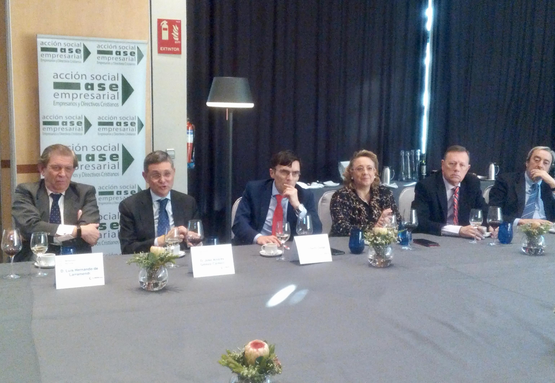 D. Luís H. de Larramendi, D. José Andrés Gómez Cantero, D. Alberto Durán López, Dña. María Isabel Martínez Torre-Enciso, D. Javier Fernández-Cid Plañiol y Luís González-Llano